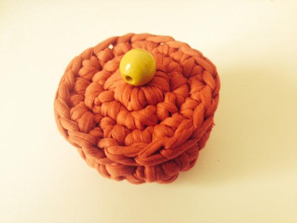 Cajitas de trapillo color naranja   By Cousiñas