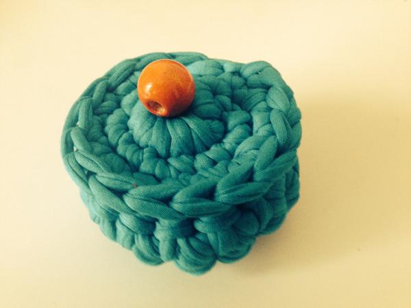 Cajita de trapillo azul   By Cousiñas
