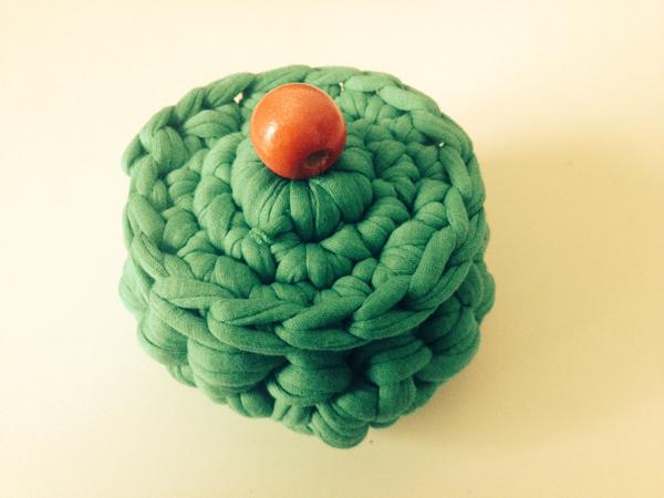 Cajita de trapillo verde   By Cousiñas