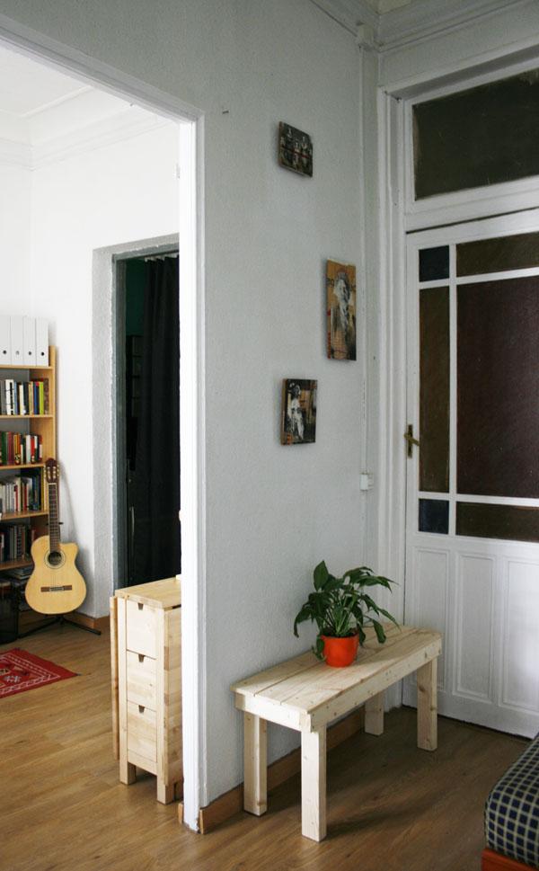 Banco de madera realizado con palets | By Cousiñas